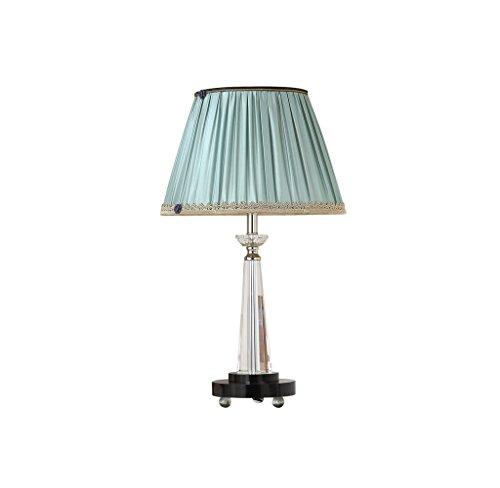 Preisvergleich Produktbild Hyzb Schlafzimmer Nachttisch Lampe Wohnzimmer Innenbeleuchtung kreative Kristall Tischlampe blau