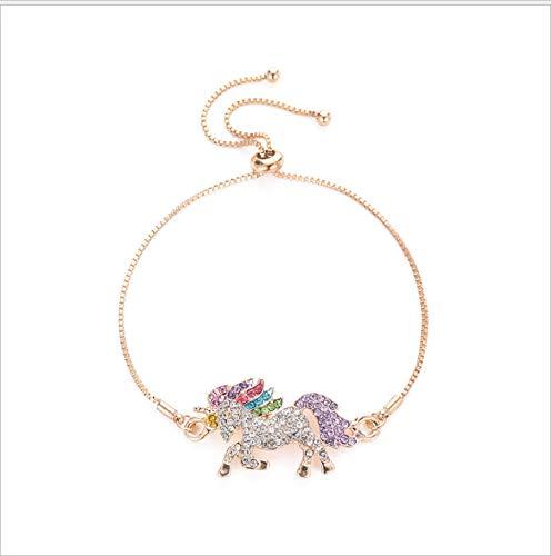 Zmnbaa Tier Pony Armband Mit Farbigen Diamanten Verstellbares Armband Schmuck -