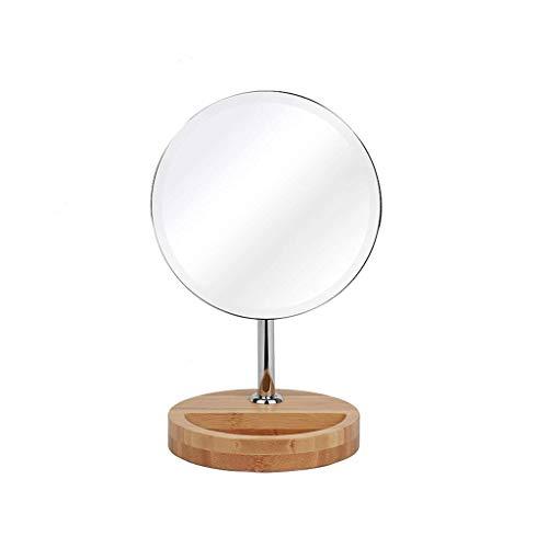 Ogsiwr Spiegel Desktop Einseitige Spiegel High-Definition Große Einfache Make-up-Spiegel Holzlager Storage Base Dormitory Schreibtisch Dressing Mirror (Farbe : -, Größe : -) -
