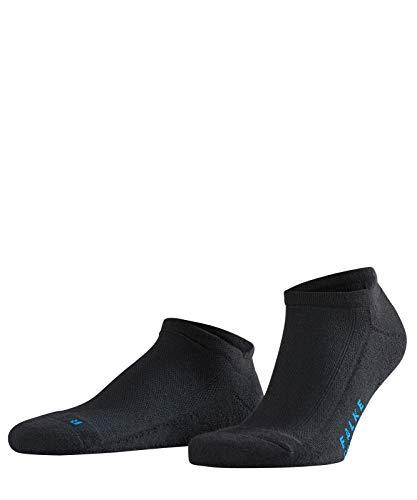 FALKE Unisex Sneaker Socken Cool Kick - 1 Paar - schwarz - Größe 39-41 - Feuchtigkeitstransport -Sneakersockenkurz Damen Herren - Plüschsohle -