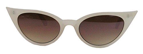 50er Jahre Damen Sonnenbrille Cat Eye Form Katzenaugen Modell FARBWAHL 73 (Nude)