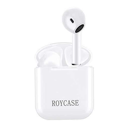 Auriculares Inalambricos Bluetooth Deportivos, Auriculares con HD Micrófono y Caja de Carga, Cancelación de Ruido Manos Libres, Compatible con iPhone Samsung y Otros Teléfonos Inteligentes