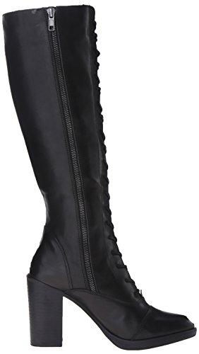 Steve Madden Nidea combattimento Boot Black Leather