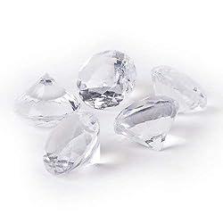 Tafeldeko.de Große Deko Diamanten in Klar, 40 mm