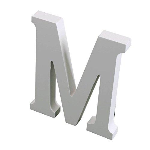 Wingogo Weiß Holz Buchstaben Handwerk Holz für Party Geburtstag Haus Hochzeit Dekorationen (Höhe: 8cm)