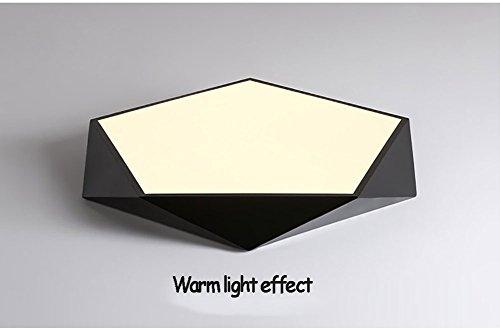 QMZB Deckenleuchte LED 12W Bürodeckenleuchte Für Wohnzimmer Flur Badezimmer Beträgt der Lampendurchmesser Beträgt 30Cm (Warmes Licht),Black