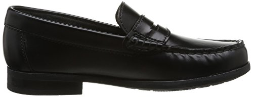 Start Rite Penny II, Mocassins fille Noir (Black Hi Shine Leather)