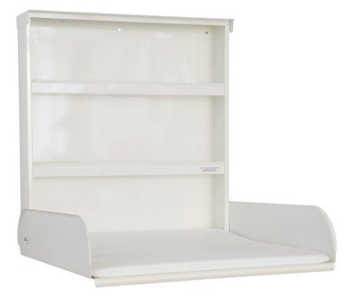 Stahlwickeltisch Klappbar mit Regalsystem und Wickelauflage - Pippi byBo Design Weiß