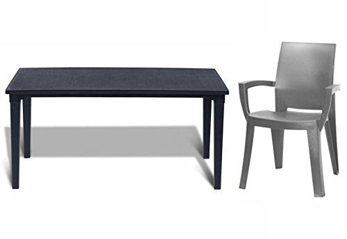 tepro Gartenmöbel-Set Futura und Lago anthrazit / graphit
