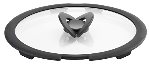 Lagostina ingenio induction coperchio in vetro, nero/trasparente, 24 cm