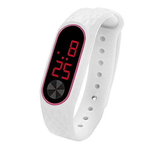 Tonsee LED Digitalanzeige Armbanduhr Fitness Armband Silikon Stoppuhren Sportuhren Schrittzähler Kalorienzähler Sport Smart Uhr Mode Sport Uhr Schrittzähler Uhr für Damen Herren und Kinder (G)
