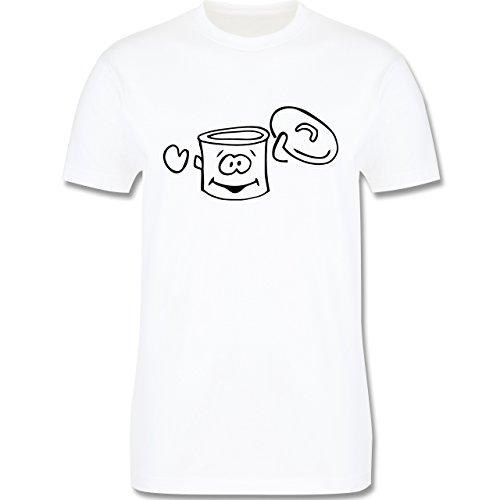 Küche - Kochtopf - Herren Premium T-Shirt Weiß