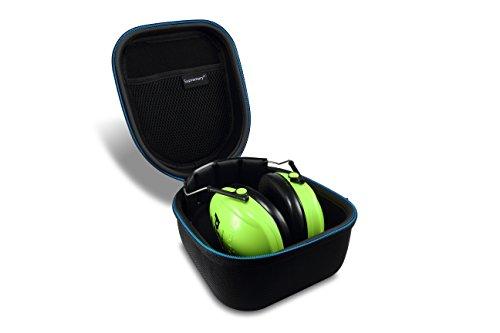 Supremery Tasche für 3m Peltor Kid Kapselgehörschutz kidv, neon-grün, SNR 27 db Case Schutz-Hülle Etui Tragetasche -
