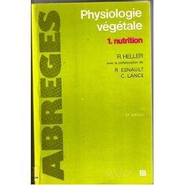 Physiologie végétale tome 1, Nutrition