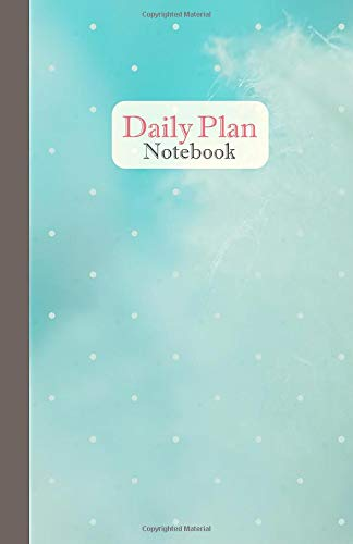Daily plan notebook: Blank simple daily planner ( 52 weeks ) size 5.5