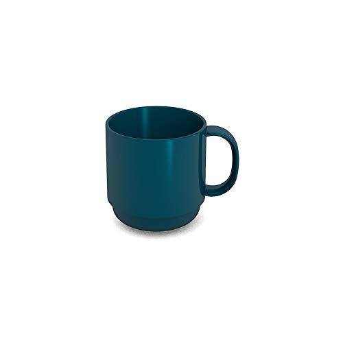 Ornamin Becher 220 ml petrol (Modell 508) / Mehrweg-Becher Kunststoff, Kaffeebecher, Henkelbecher