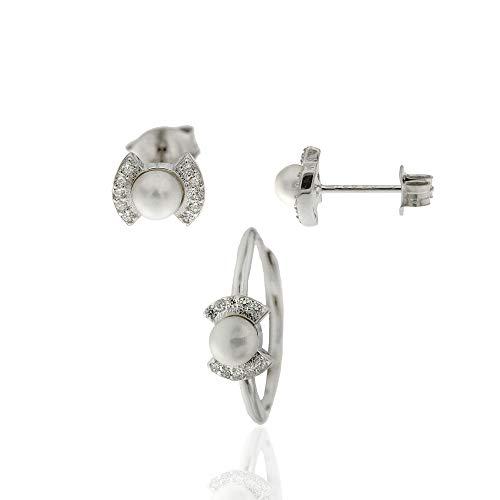 c70e9e156c2e conjunto pendientes y anillo comunion - Shopping Style