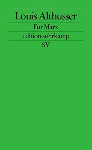 Für Marx (edition suhrkamp)