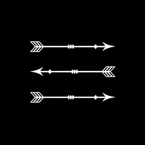 RJSYT Vinyl Auto Stoßstange Motorrad Aufkleber wasserdichte Kraftstofftank Aufkleber Auto Dekoration Geheimnisvolle Armbrust Jagd Bogenschießen Decor AutoSport 14,2 * 10,2 cm 2PCS