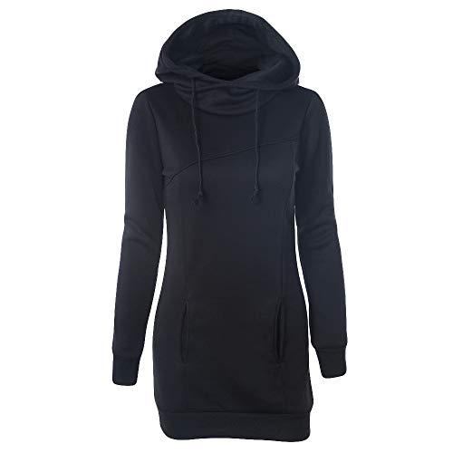 a7ed815c3f31 TianWlio Damen Hoodie Frauen Feste Beiläufige Sweatshirt Taschen mit Kapuze  Pullover Lange Hülsen Spitzenbluse