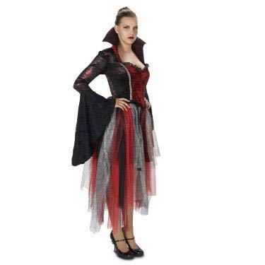 DreamWeavers Königin der Herzen Vampire Damen Vampier Fasching Halloween Karneval Deluxe Kostüm (Small) (Deluxe Kostüm Der Herzen Königin)