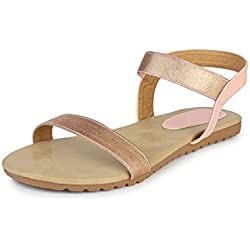 Do Bhai Sandal-Jimmy Flat Sandal for Women (EU36, Pink)