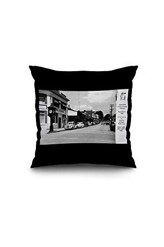 sonora-california-exterior-view-of-bank-of-america-building-town-clock-16x16-spun-polyester-pillow-c