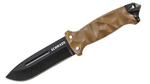 Schrade SCHF40D Couteau de Survie Mixte Adulte, Marron