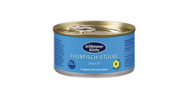 Schlemmer Küche Thunfisch Im Eigenen Saft 185g: Amazon.de: Lebensmittel U0026  Getränke