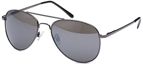 Premium Set, Pilotenbrille Verspiegelt Fliegerbrille Sonnenbrille Pornobrille Brille mit Federscharnier (76 | Rahmen Schwarz - Glas - Aviator Pilot Kostüm