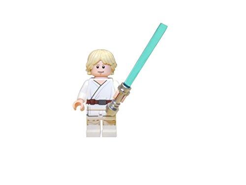 LEGOLuke Skywalker con Cabezal de Cambio y Tatooine Outfit-Incluye Espada de luz y Logo de baldosas