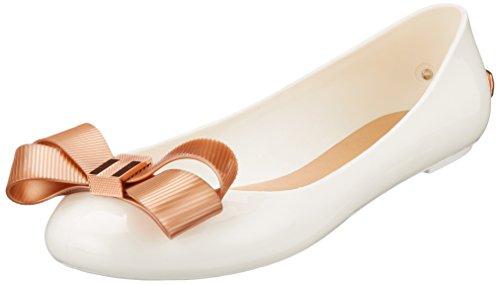 Ted Baker Women's Larmiar Closed Toe Ballet Flats, White (Whiterose Gold #Ffffff), 4 Uk 37 Eu