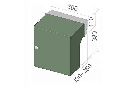 F-04 Edelstahl Mauerdurchwurf Briefkastenanlage (variable Tiefe) mit Klingel und Namensschild – LETTERBOX24.de - 5