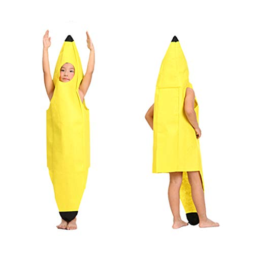Ysoom Lustiges Bananenkostüm Kostüm für Erwachsene Kinder, Bananenanzug Fasching Bananen Frucht Obst Anzug Karnevalskostüme - Kinder Frucht Kostüm