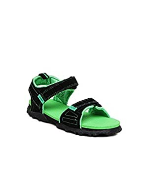 ... Puma Men s Black and Poison Green Sandals and Floaters - 11  UK India(46EU) dcf4a46ef