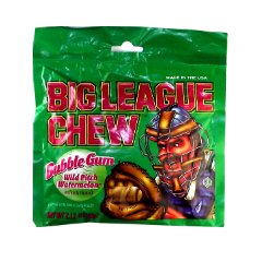 Big League Chew Bubble Gum Watermelon 2.12 OZ (60g) (League Gum Big)