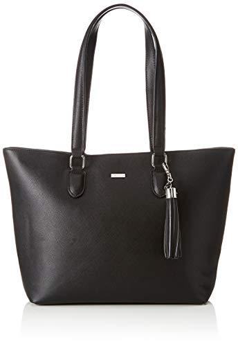 Tamaris Damen Maxima Shopping Bag Henkeltasche, Schwarz (Black), 12x29.5x44 cm
