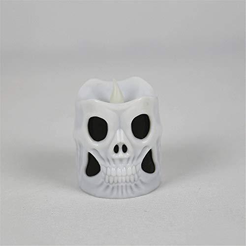 Lichter des Halloween-Dekorationsschädels, elektrische Kerzenflammen 5.3 * 6.5CM ()