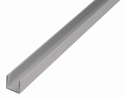 GAH-Alberts 473815 U-Profil - Aluminium, silberfarbig eloxiert, 1000 x 10 x 8 mm