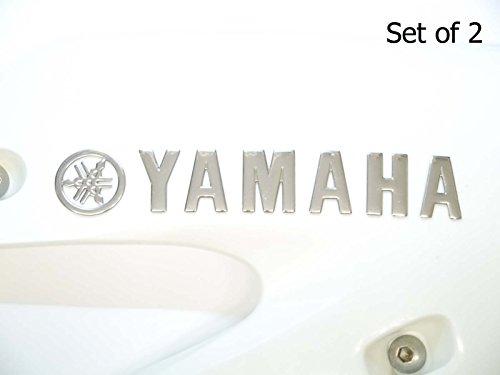 2 x Cromado Yamaha Motocicleta Emblema Insignia Moto Tanque De Gasolina De Combustible Pegatina