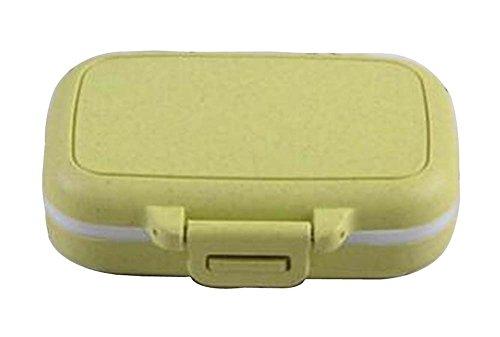 [Grün-1] Kleine Pill Box Pille Fällen Medizin Dispenser Pille Container (Monatliche Pille Veranstalter)