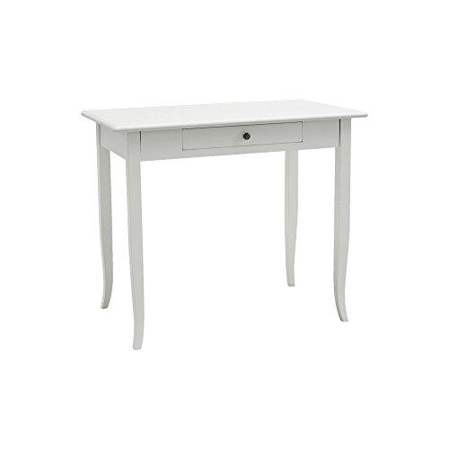 Pieffe Mobili am5270190 Bureau, Bois, Blanc, 90 x 50 x 78 cm