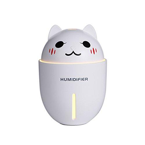 Preisvergleich Produktbild YJIUJIU Mini-Ventilator, Drei-in-One-Luftbefeuchter Elektrische Ventilator LED-Nachtlicht (134,8 mm * 93 mm * 93 mm) Zwei Farben Optional,White