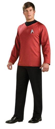 Star Trek Movie Grand Heritage Scotty Red Shirt Costume Adult - Star Trek Red Shirt Für Erwachsene Kostüm