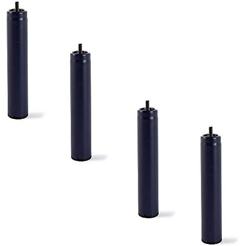 4 patas de somier ó base tapizada , metálicas , cilíndricas con rosca 25,5CM