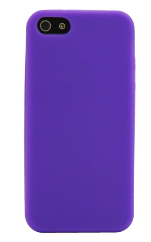 Luxburg® Housse Etui Coque Apple iPhone 5 silicone case TPU Turquoise / bleu clair Diamond-Blanc