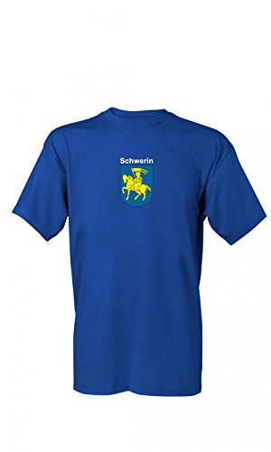 T-Shirt Schwerin Wappen S-4XL, Größe:L;Farbe:Royalblau