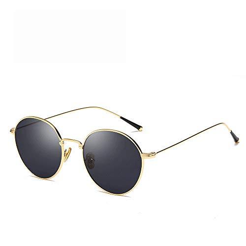 Easy Go Shopping Sonnenbrille Metallrahmen Unisex Aviator Spiegel polarisierte Linse Sonnenbrille (Farbe : Gold, Größe : Casual Size)