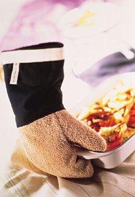 Le Creuset 95000800000000 Handschuh Klassik, schwarz-beige
