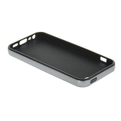 MOONCASE iPhone 5 5S Case Gel TPU Silicone Housse Coque Etui Case Cover pour Apple iPhone 5 / 5G / 5S Argenté Gris